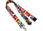 Pantone Colors Name Tag Lanyards , Personalized Neck Lanyards With Bulldog Chip