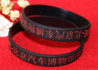 Light Weight Custom Silicone Rubber Wristbands Multi Colors Segmented