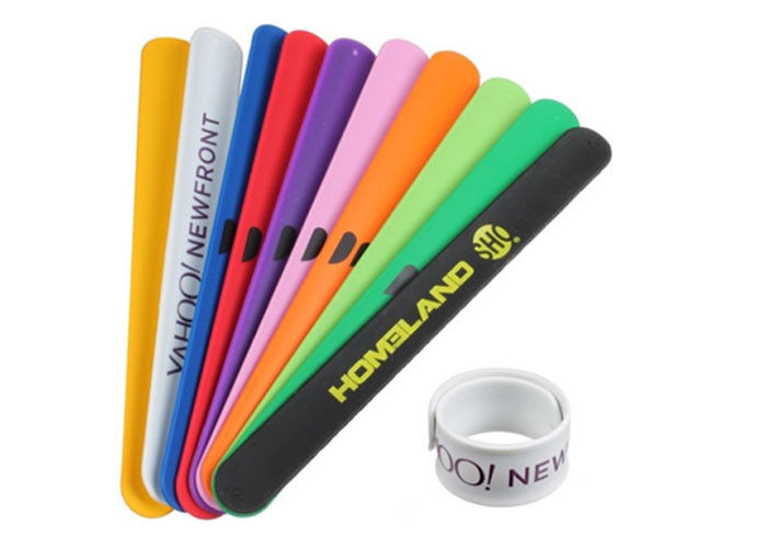 Promotional Silicone Slap Wristband High Durability For Outdoor Concerts