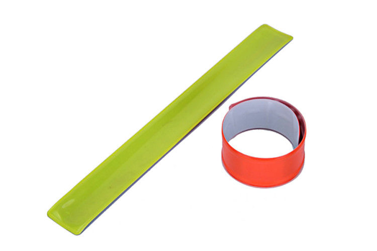 Magic Applauded Reflective Slap Bands Eco Friendly High Safety At Night
