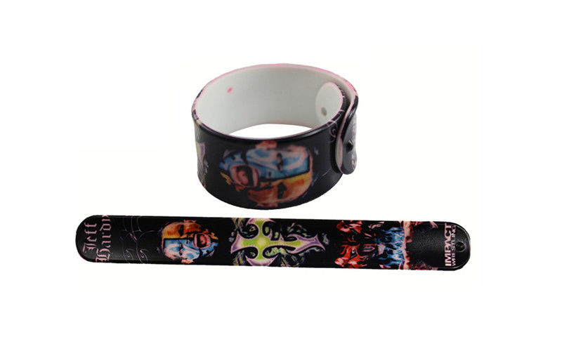 Eco Friendly Rubber Personalized Slap Bracelets Customized Promo Printed