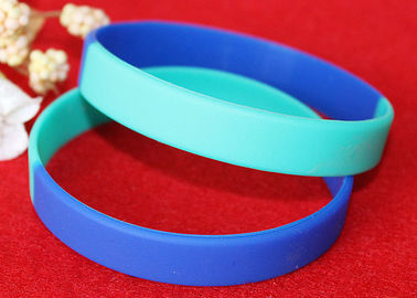 China Light Weight Custom Silicone Rubber Wristbands Multi Colors Segmented distributor