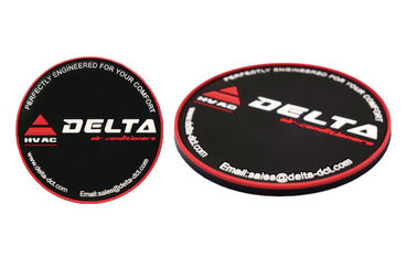 China Round Shaped Promotional Gift Giveaways Rubber Coaster Unbreakable Featuring distributor