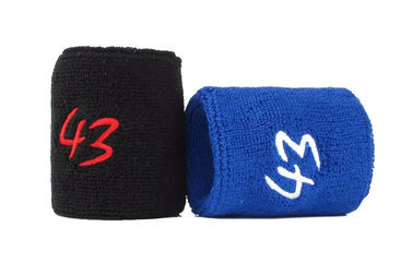 China Outdoor Sports Wrist Sweatbands Cotton Materials Absorbs Sweat Effectively distributor