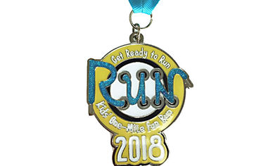 China Soft Ribbons Running Award Medals , Custom Sports Medals 55*55mm Dimension factory