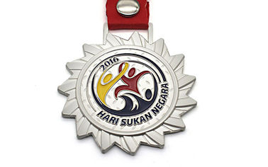 China Customized Color Sports Medals And Ribbons Embossed Logo Design 30g Weight distributor