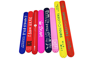 China Colorful Printing Silicone Slap Wristband Non Toxic Materials For Children Toys distributor