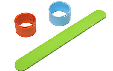 China 20g Weight Snap Band Bracelet , Silicone Slap Bracelet Ruler SGS Certificated factory