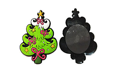China Xmas Tree Shape Soft Fridge Magnets Eco Friendly Raw Materials 3D Effect distributor