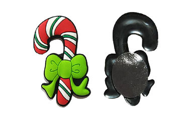 China Christmas Series Rubber Refrigerator Magnets , Cute Fridge Magnets Injection Logo distributor