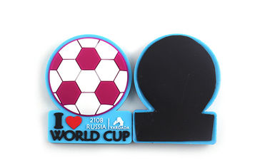 China Football Sports Soft Fridge Magnets 3*5cm Dimension Compact Decoration distributor