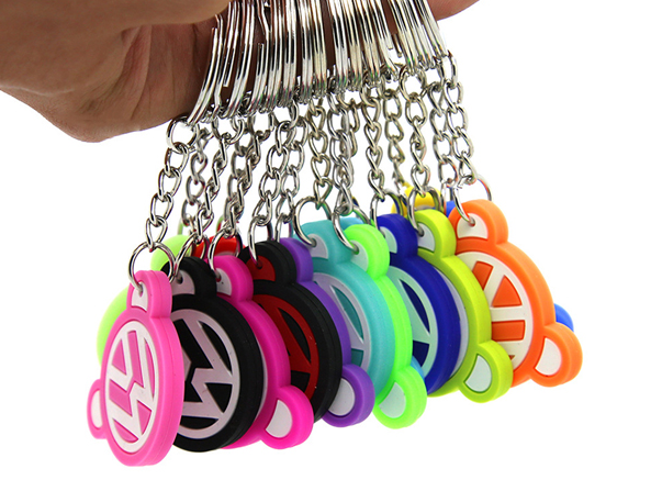 Fashionable PVC Rubber Keychain Custom 3D Effect Promotional Giveaways